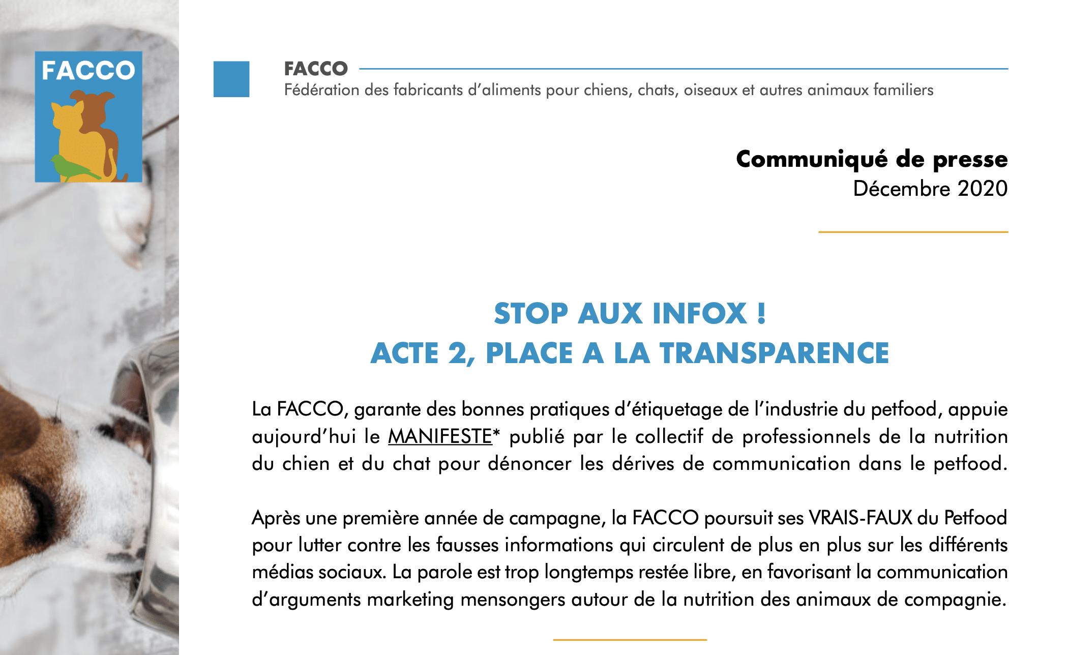 STOP AUX INFOX ! ACTE 2, PLACE A LA TRANSPARENCE